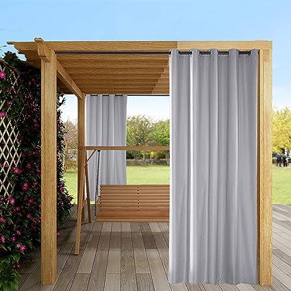 mingfuxin rideaux d exterieur 1 panneau pour jardin terrasse tonnelle ecran solaire rideaux occultants impermeables et isoles thermiquement avec