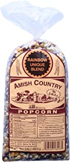 product image for Amish Country Popcorn | 1 lb Bag | Rainbow Popcorn Kernels | Old Fashioned with Recipe Guide (Rainbow - 1 lb Bag)