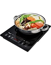 "Rosewill Induction Cooker 1800 Watt, 5 Pre-Programmed Induction Cooktop, Electric Burner with Stainless Steel Pot 10"" 3.5 QT 18-8, RHAI-15001"