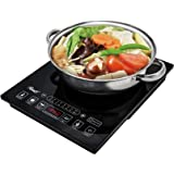 "Rosewill Induction Cooker 1800 Watt, 5 Pre-Programmed Induction Cooktop, Electric Burner with Stainless Steel Pot 10"" 3…"