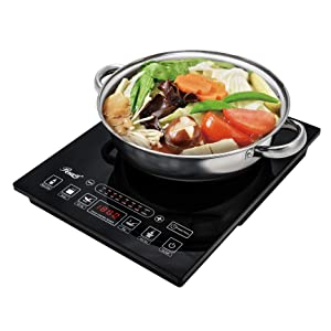 Rosewill RHAI-15001 1800-Watt Induction Cooker with Stainless Steel Pot