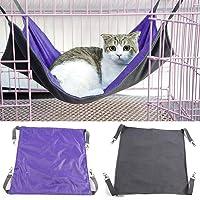 WENTS Wasserdichte Oxford-Katzenhängematte 1 pcs Purple Large Haustierkäfig-Hängematte 2 Seiten-Schlaf-Auflage benutzt im Winter und Sommer