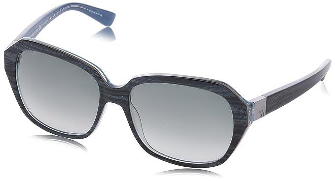 Hogan HO0042 Wayfarer Sonnenbrille, 92B Striped Blue/Beige