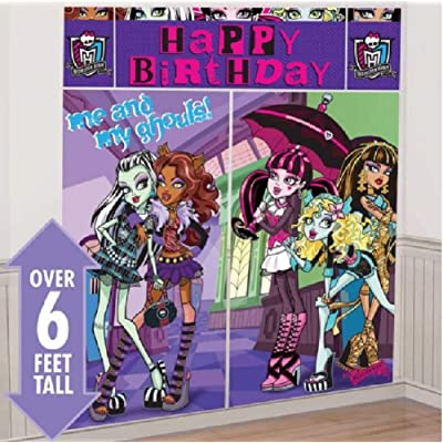 Disney Monster High Scene Setters Wall Banner Decorating Kit Birthday Party Supplies: Toys & Games