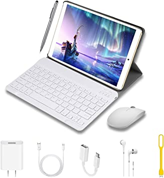 Amazon.com: Tablet 10 Inch 2 in 1 Android 8.1 with Keyboard ...