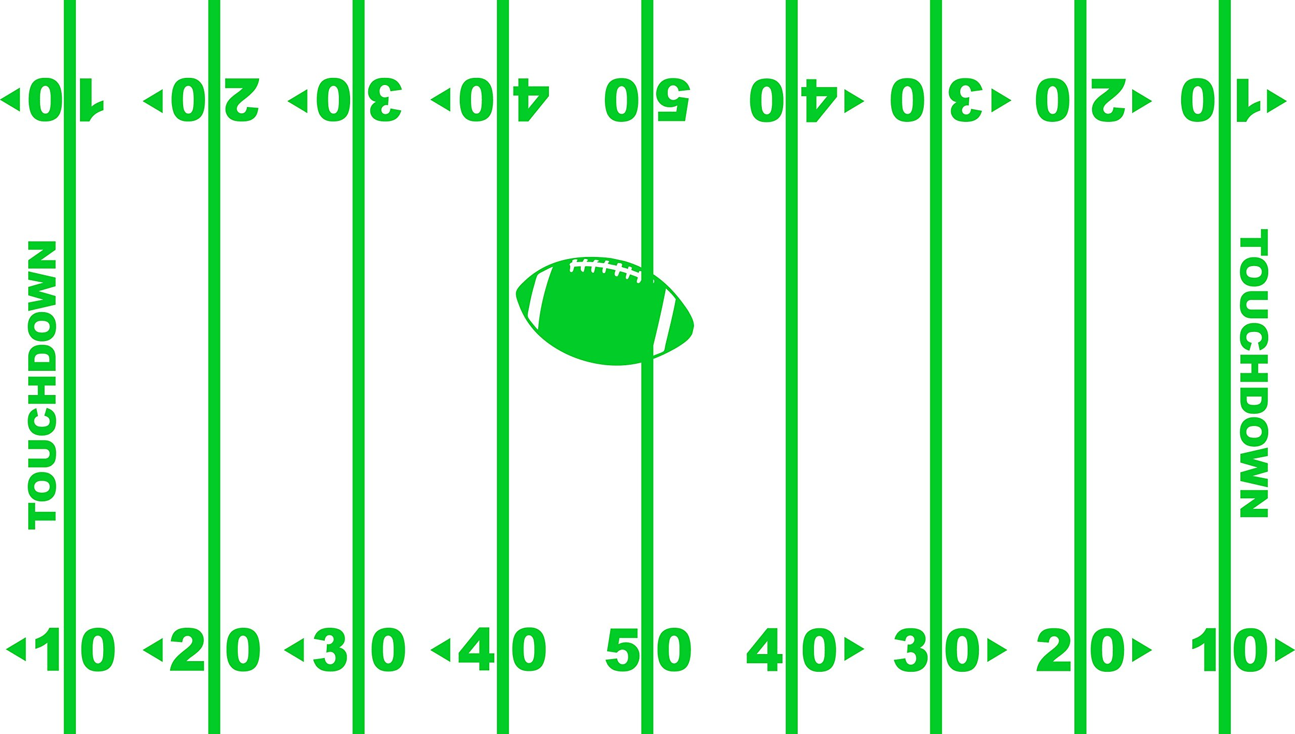 Chic Walls Removable Football Field Yard Line NFL Wall Window Floor Ceiling Art Décor Decal Vinyl Sticker Mural Nursery Children Kids Bedroom Sports Bar Basement Living Room Green 65'' tall