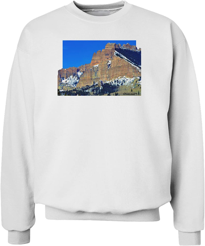 TooLoud Colorado Snowy Mountains Cutout Sweatshirt