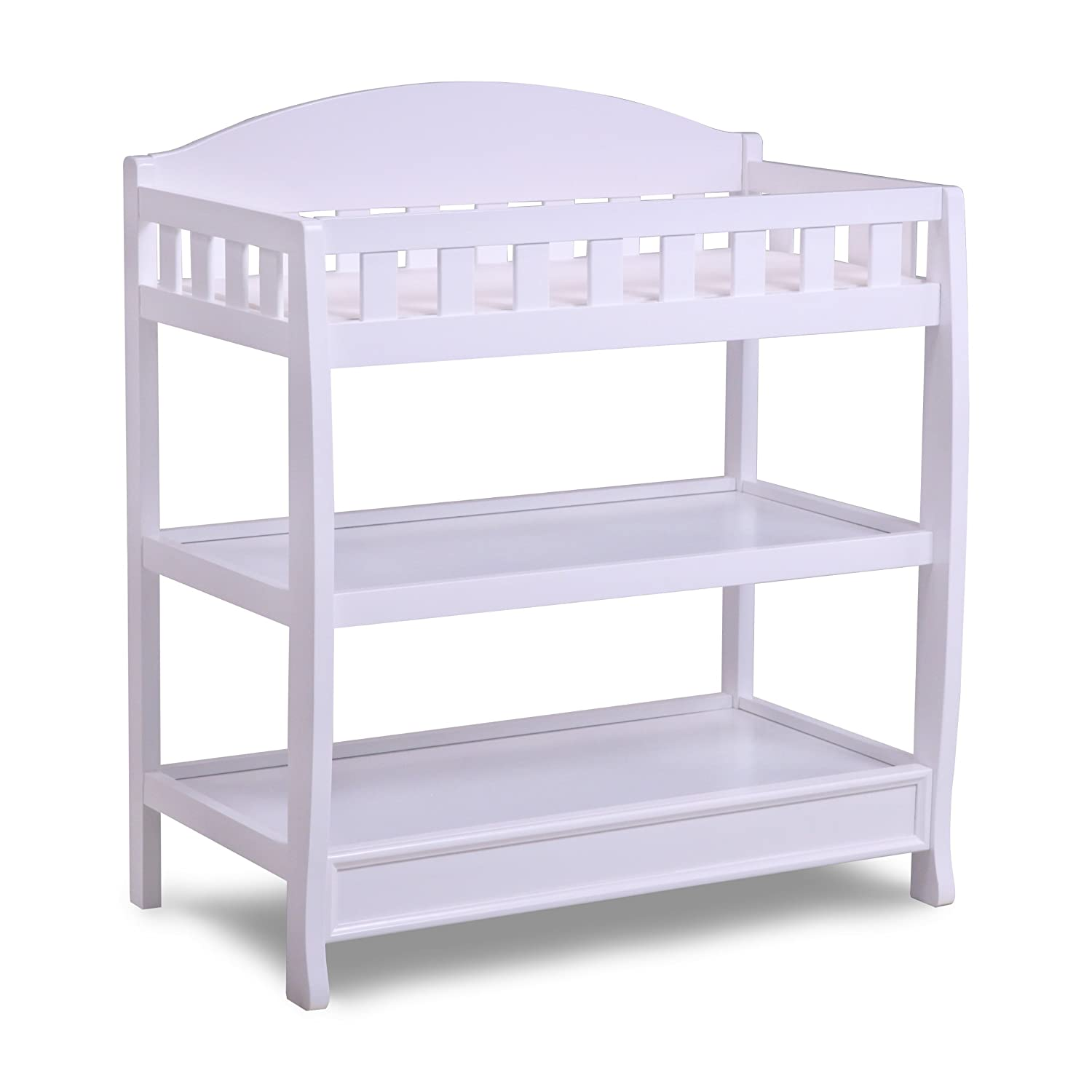 Amazon.com : Delta Children Infant Changing Table with Pad, White : Baby
