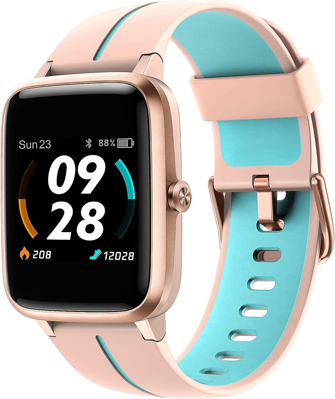 Vigorun Reloj Inteligente, Smartwatch Fitness Rastreador de Actividad con Monitor de Ritmo Cardíaco y Sueño, Pantanlla Táctil, GPS Incorporado, 14 Modos de Deportes, 5ATM Impermeable para Hombre Mujer