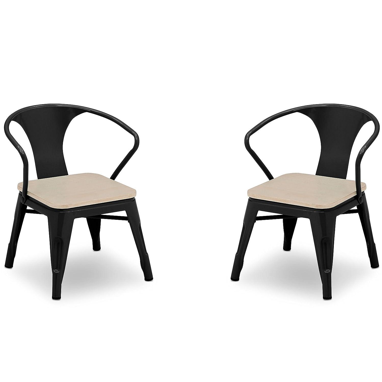 Delta Children Bistro 2-Piece Chair Set, Black with Driftwood Delta Baby Dropship 560301-1312