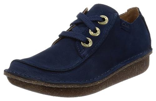 Clarks Funny Dream, Zapatos de Cordones Brogue para Mujer, Azul (Blue Grey), 35.5 EU