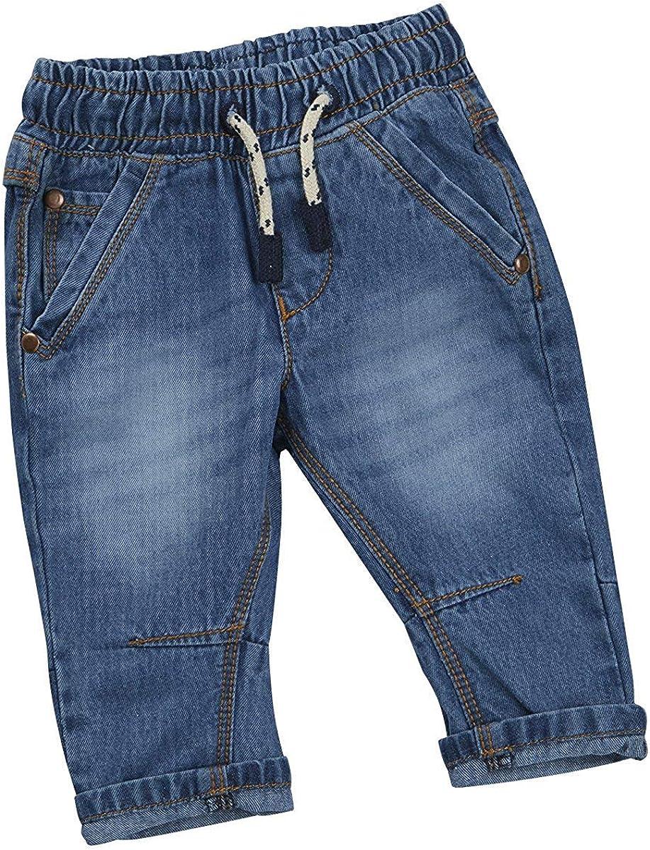/24/Mesi BabyTown Baby Ragazzi Jeans Pantaloni Pantaloni per Bambini Stile Denim Elasticizzato 3/