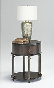 Progressive Furniture Court Oval End Table, Regent Cherry