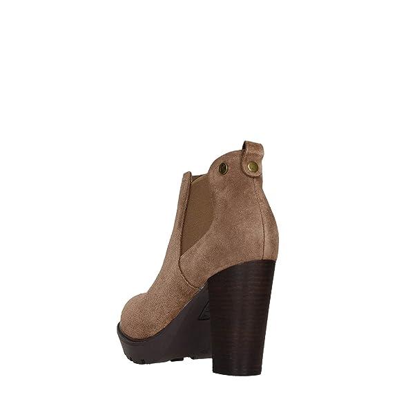 CARMELA FOOTWEAR Bottes Pour Femme - Marron - Taupe, 40