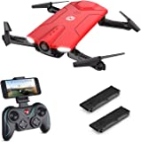 Holy Stone Mini HS160R Shadow FPV RC Drone with 720P HD Wi-Fi Camera Live Video Feed 2.4GHz 6-Axis Gyro Quadcopter for Kids & Beginners - Altitude Hold, One Key Start, Foldable Arms, 2PCS Battery
