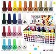 Set de 24 vernis à ongles 24 couleurs différentes vives boîte de luxe 5 ml (set B)