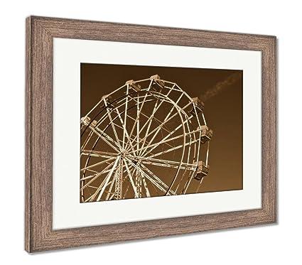Amazon.com: Ashley Framed Prints Ferris Wheel, Wall Art Home ...