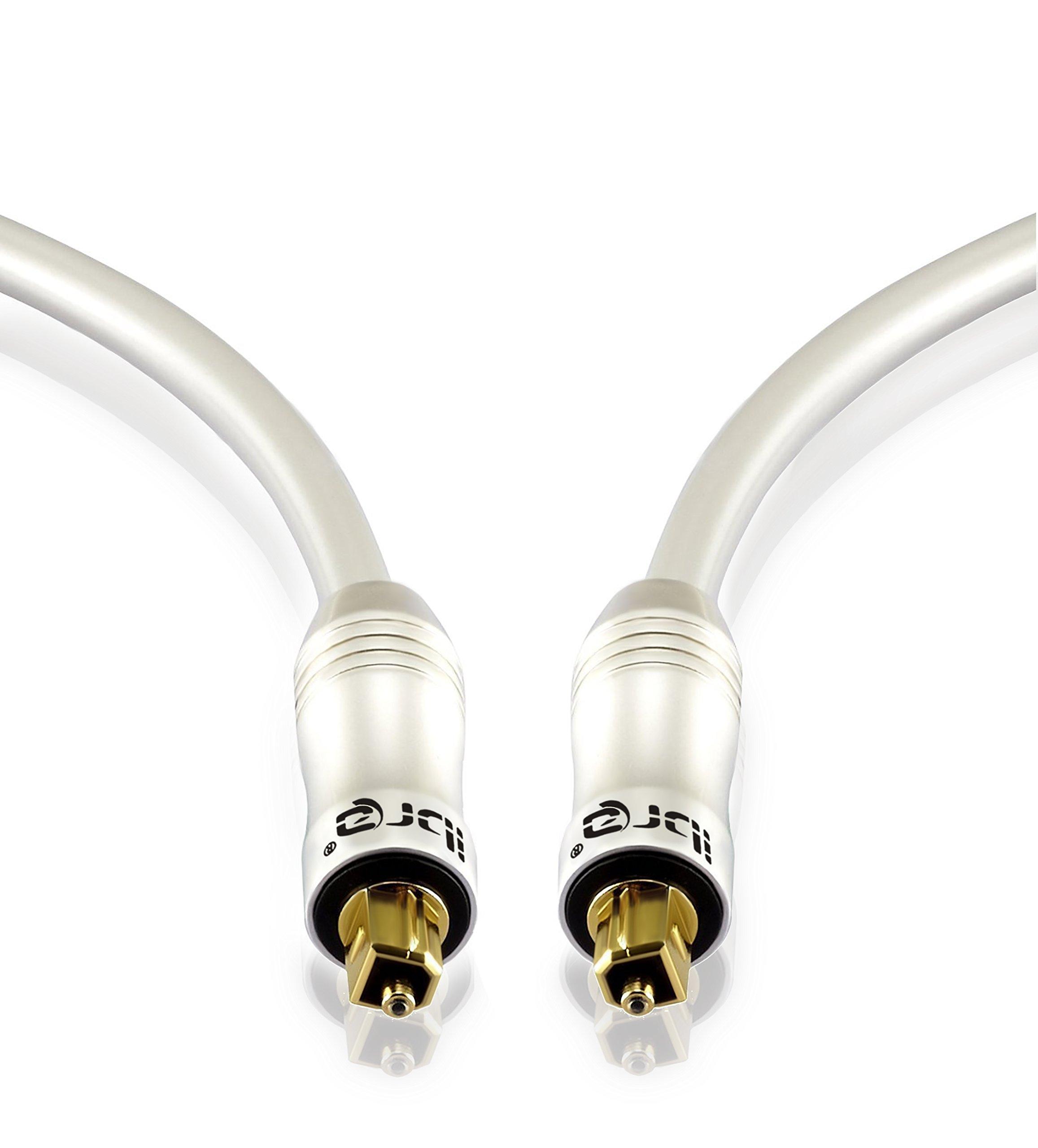 IBRA® PEARL - 3m (metros) Cable óptico de Audio Digital Toslink | Alta
