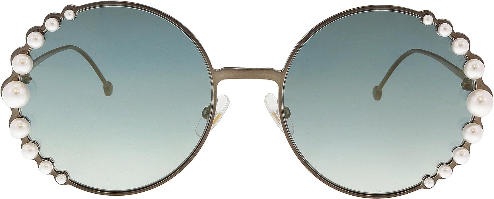 b673c3948d97 Sunglasses Fendi Ff 295  S 0J7D Semi Matte Bronze   EZ green silver mirror  lens