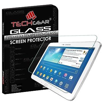"127d6384f8f TECHGEAR Vidrio Compatible con Galaxy Tab 3 10.1"" (GT-P5200) -  Auténtica"