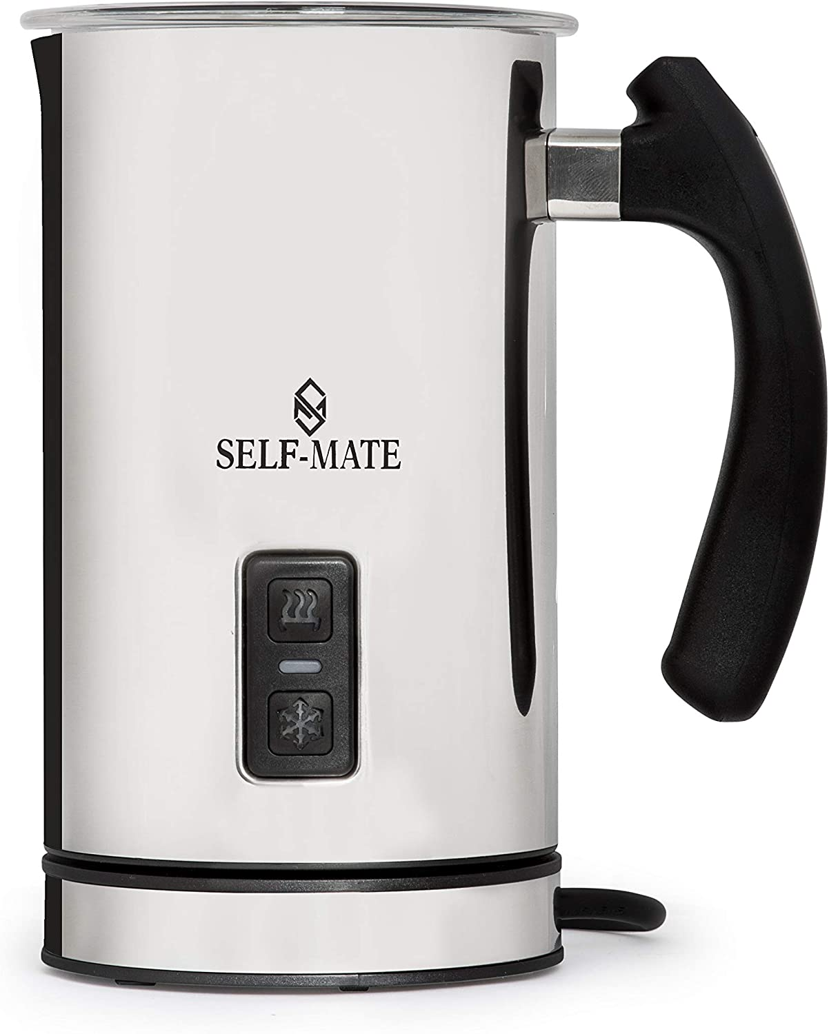 Automatic Milk Frother, Heater and Cappuccino Maker Stainless Steel Electric Milk Steamer Machine Cold or Hot Milk, Espresso, Chocolate, Coffee, Foamer, Easy to Use, Sturdy & Silent for Home Or Café