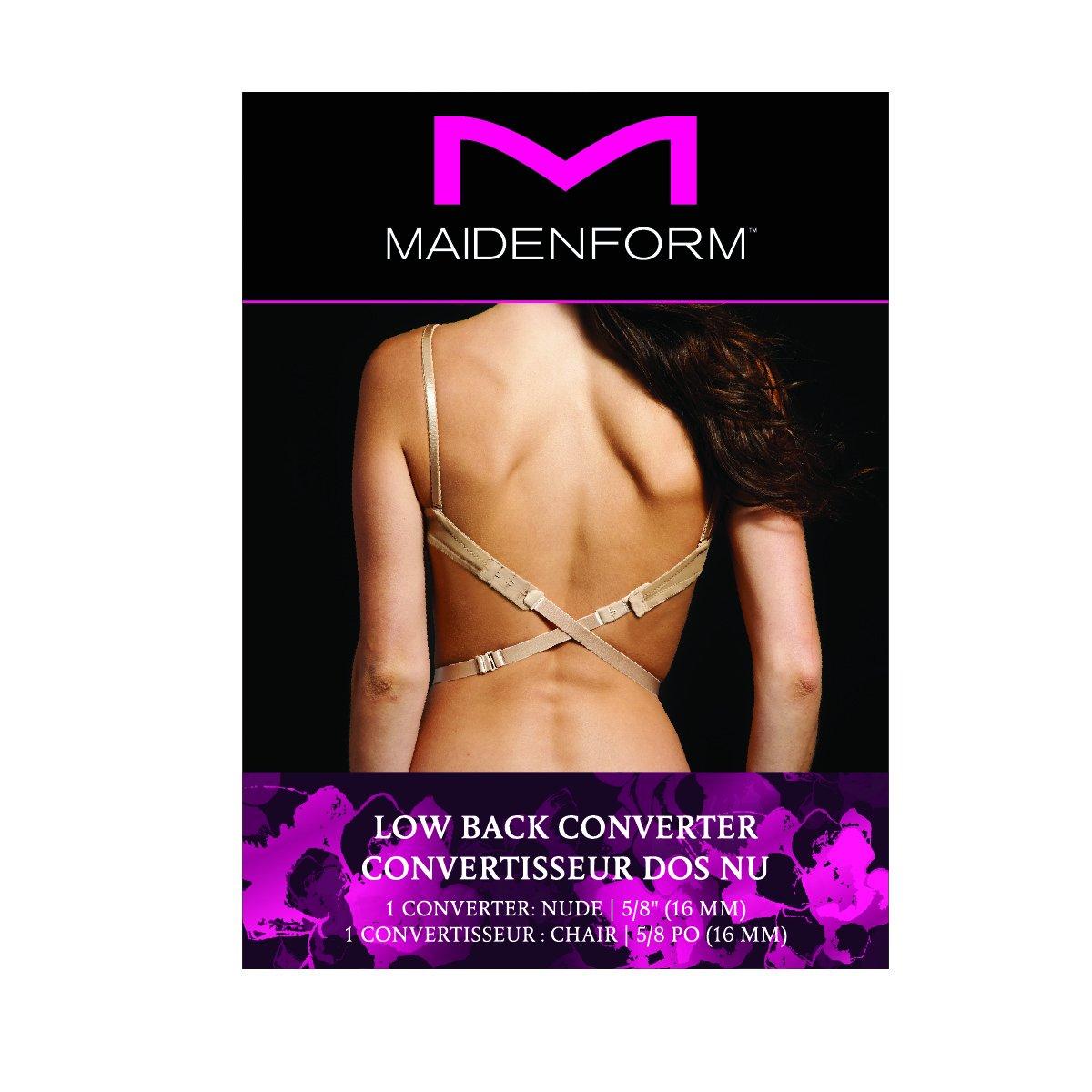 b23f0cbe421 Maidenform Women's Low Back Bra Converter, Black, One Size at Amazon Women's  Clothing store: