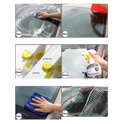 Ballylelly Recubrimiento del Parabrisas del Coche líquido Anti Repelente al Agua líquido Repelente al Agua 170ML: Amazon.es: Deportes y aire libre