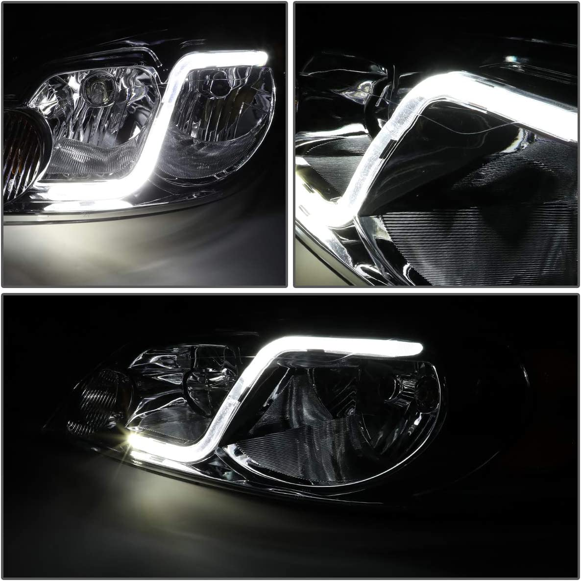 For 06-16 Monte Carlo//Impala Limited DNA Motoring HL-LB-CI06-SM-AM Pair of Headlight