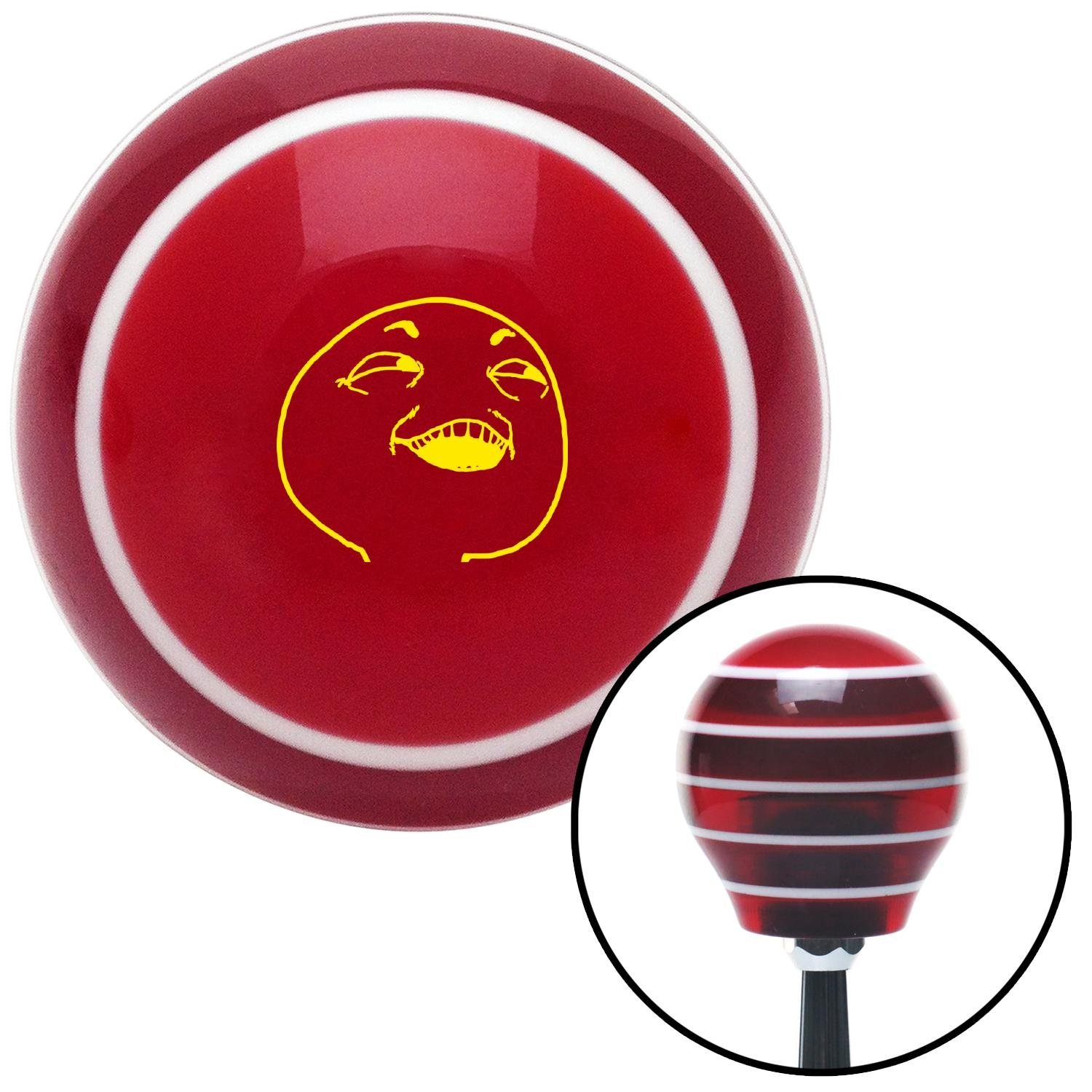 American Shifter 273826 Shift Knob Yellow What You Did There Red Stripe with M16 x 1.5 Insert