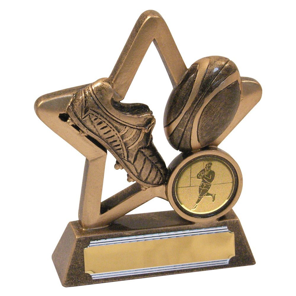 3.75 Rugby Trophy with FREE Engraving up to 30 Letters JR4-RF411A
