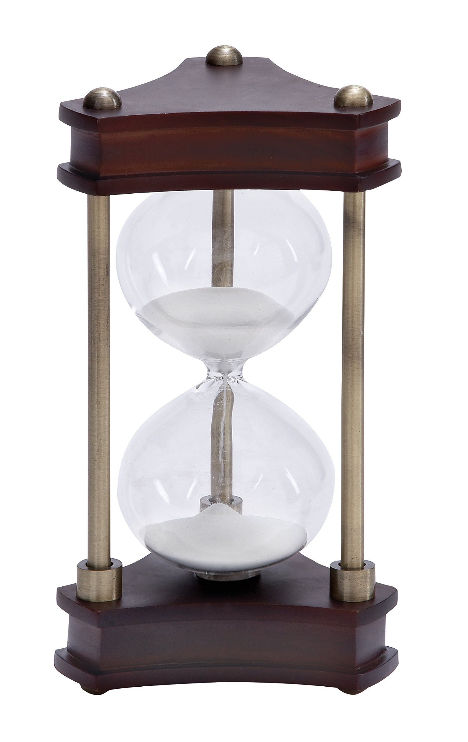Deco 79 Wood Metal Glass Sand Timer Must to Have for Maritime Collector