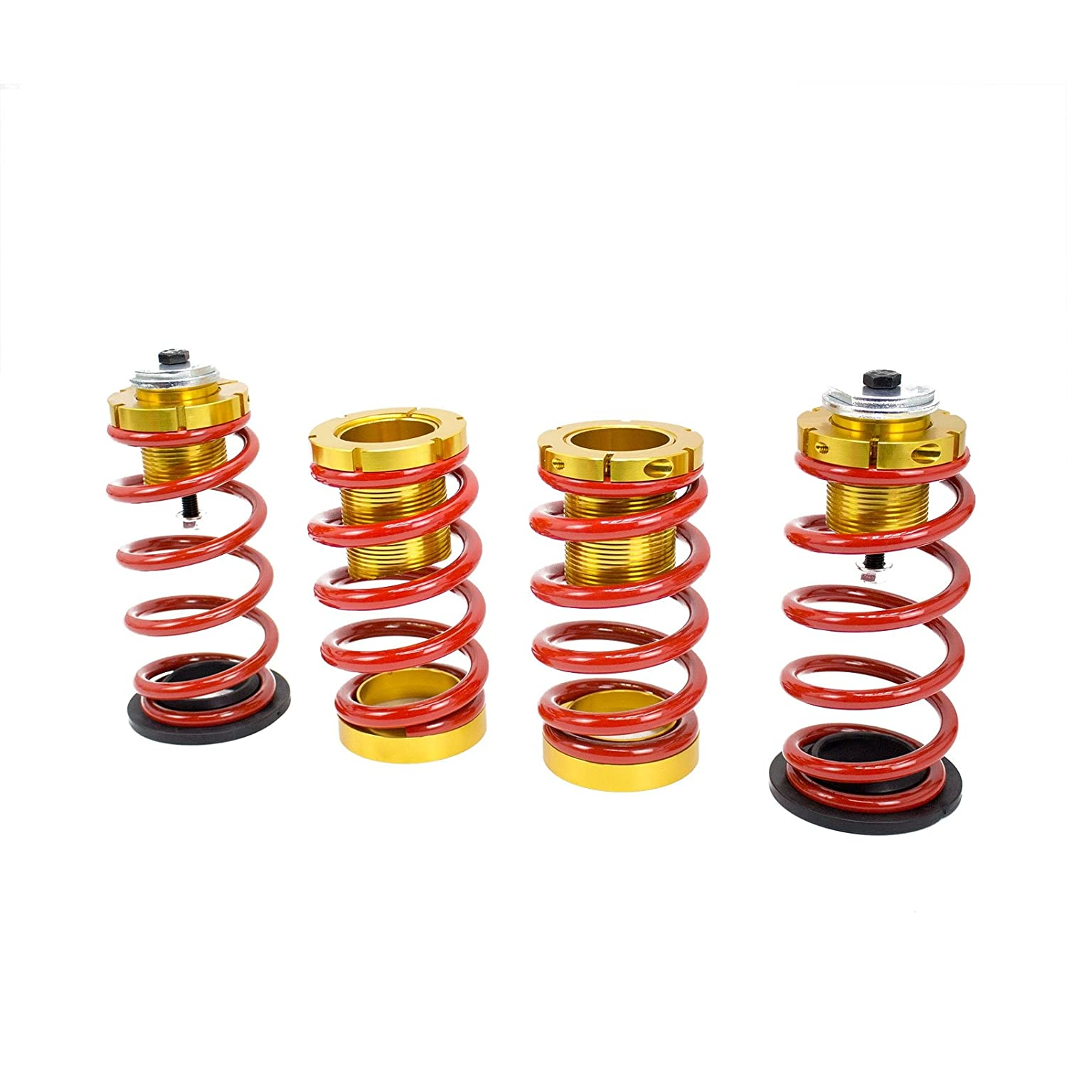 Honda Civic 12-15 Lowering Spring with Hi-Low Sleeve Kit, Red and Gold Rev9