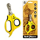 Thunderpaws Professional-Grade Cat Nail Clippers with Angled Tip - Suitable for Cats and Small Animals (Cats & Small Animals, Yellow)