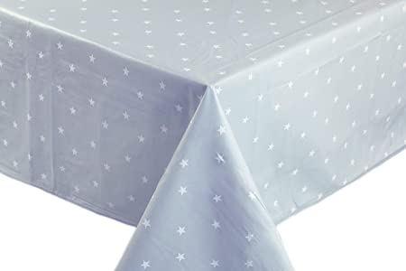 180cm Extra Wide Grey Tiles PVC Vinyl Wipe Clean Oilcloth Tablecloth