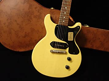 Used Gibson Custom Shop 1958 les paul Junior doble corte vos TV amarillo guitarra