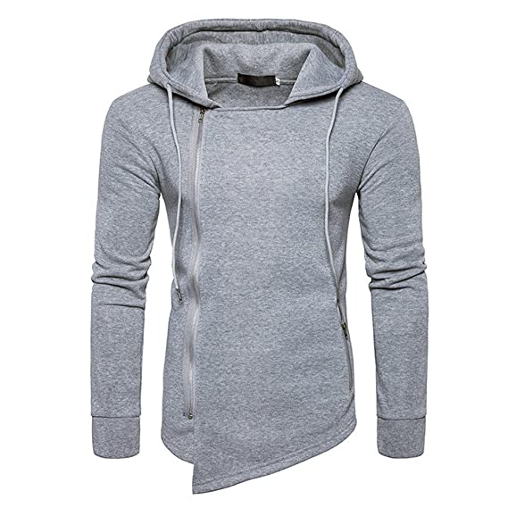 2018 New Casual Fashion Clothes Pure Color Pullover Hoodie for Men