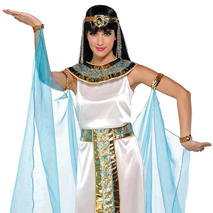 amscan womens cleopatra the queen egyptian halloween costume size medium 6 8