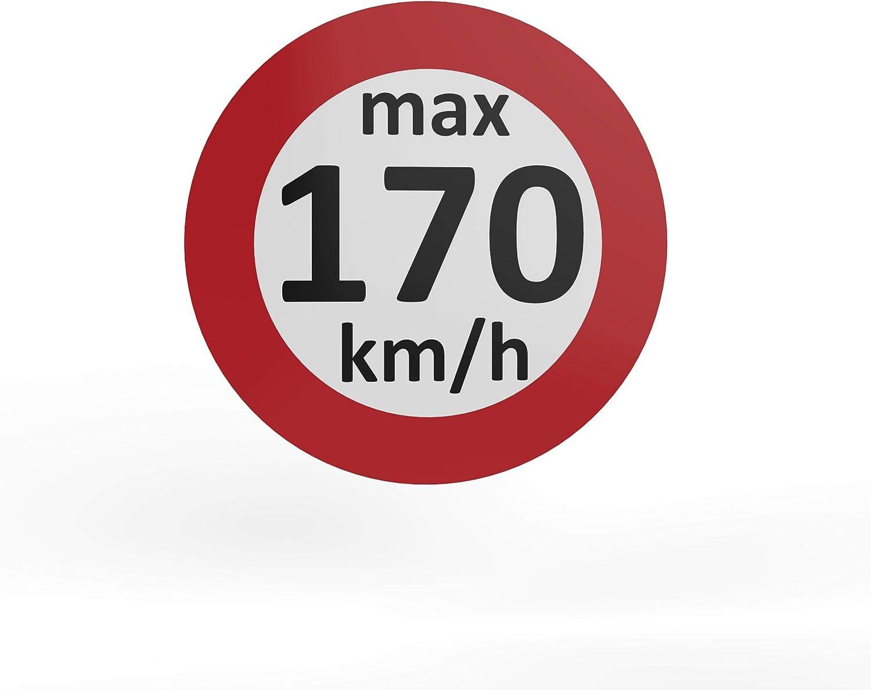 Auprotec Geschwindigkeitsaufkleber Winterreifen Aufkleber 160 240 Km H Auswahl 10 Stück 170 Km H Auto