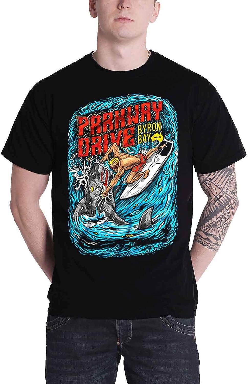 Parkway Drive T Shirt T Shirt Shark Punch Band Logo Official Mens Black