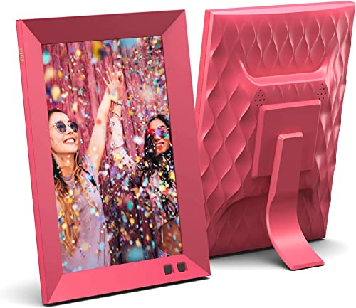 Lola 8 Inch Digital Photo Frame with WiFi – Pomegranate