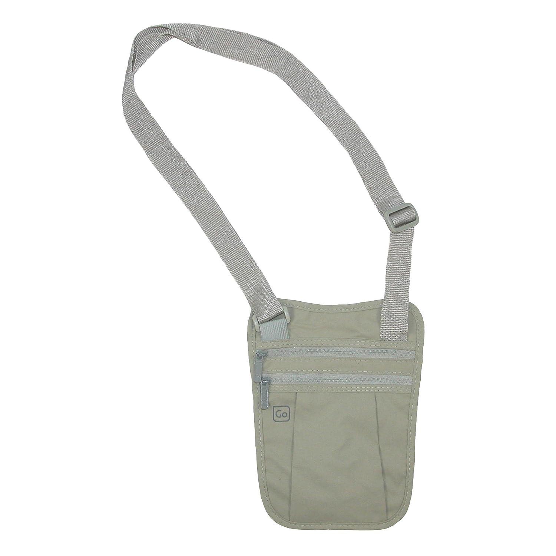 Go Travel Travel Security Undergarment Shoulder Wallet, Beige