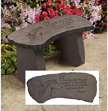 Design Toscano Leave A Trail Cast Stone Memorial Garden Bench