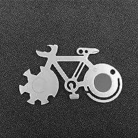 COTTILE EDC multifunctioneel gereedschap fiets vorm mountainbike gereedschapskaart outdoor multitool survivalmes kaart…