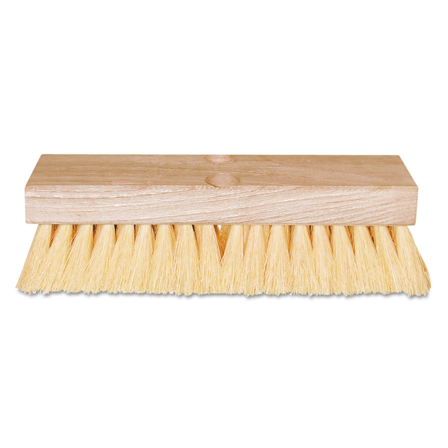 Deck Scrub Brushes - 210 ors 10'' deck brush w/5s handle [Set of 12]