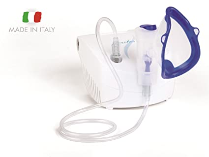 Inhalador Nebulizador Portátil Compacto Aerosol a Pistón Nuvita 5020 - Compatible con Medicamentos Oleosos - 1