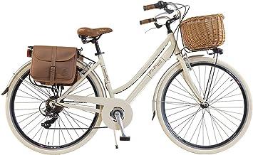Via Veneto By Canellini Bicicleta Bici Citybike Ctb Mujer Vintage Retro Via Veneto Aluminio (Crema, 46): Amazon.es: Deportes y aire libre