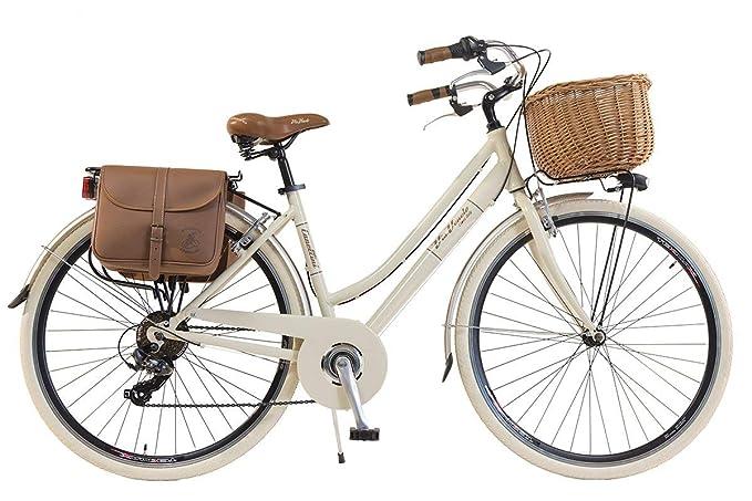 Via Veneto By Canellini Bicicletta Bici Citybike CTB Donna Vintage Retro Via Veneto Alluminio Panna Taglia 46