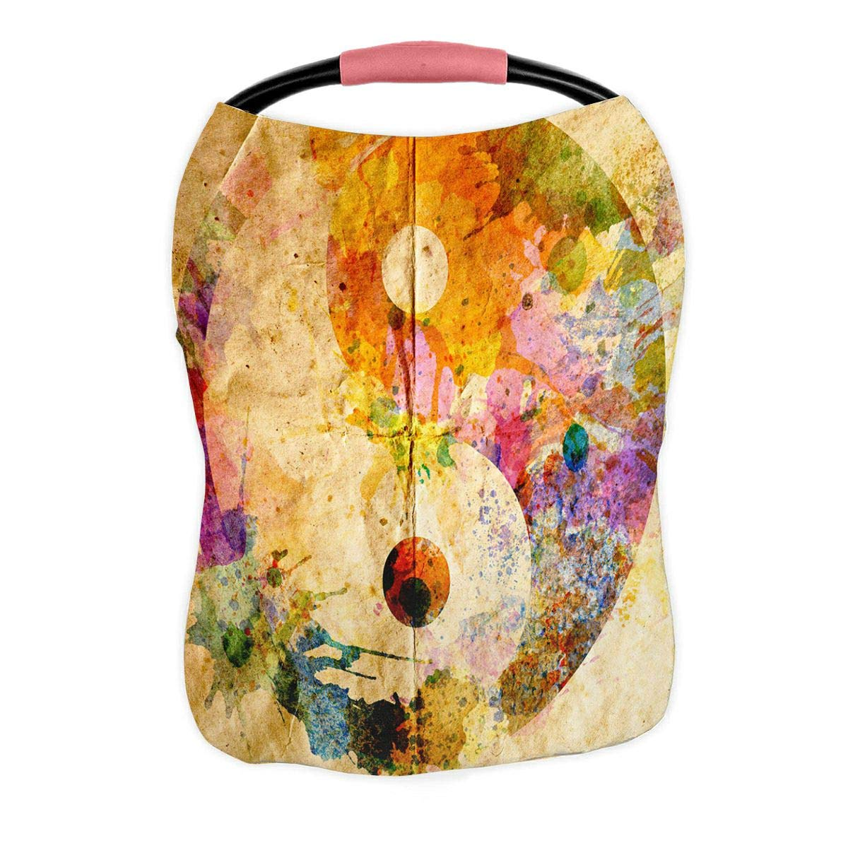 ABPHQTO Watercolor Yin Yang Symbol Nursing Cover Baby Breastfeeding Infant Feeding Cover Baby Car Seat Cover Infant Stroller Cover Carseat Canopy Breathable