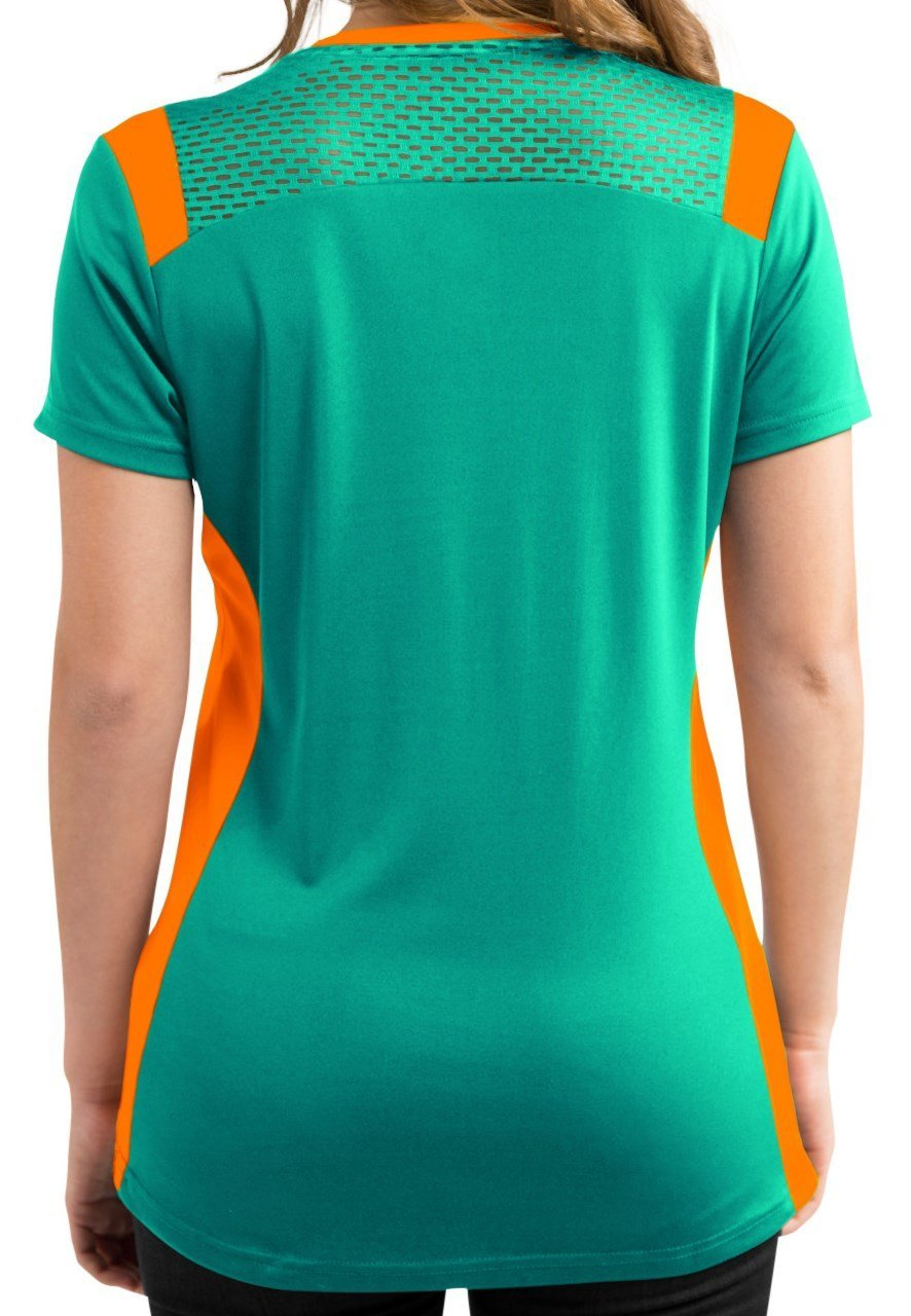 Amazon.com   Miami Dolphins Women s Aqua Draft Me Jersey V-Neck T-Shirt    Sports   Outdoors f30c98942