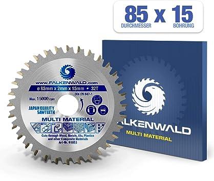 FALKENWALD - Hoja de Sierra Circular 85 x 15 mm - Ideal para ...